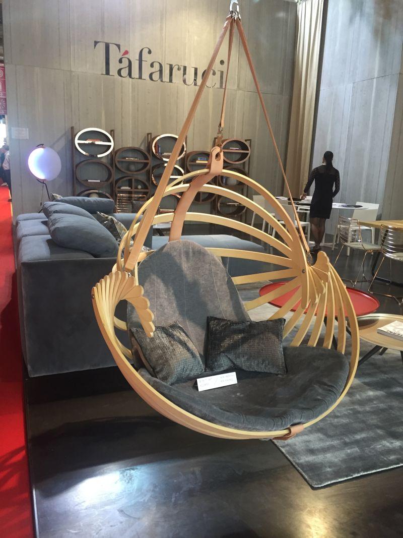 Tafaruci hanging leather belts chair