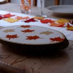 Wooden Serving Tray For A Rustic Thanksgiving Dinner