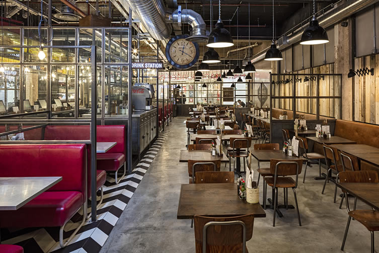 The Handmade Burger Co. by Brown Studio Chairs