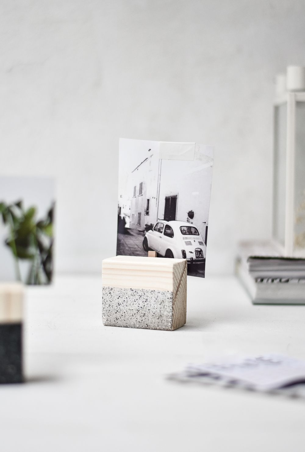 Wood DIY Geometric Photo Holders