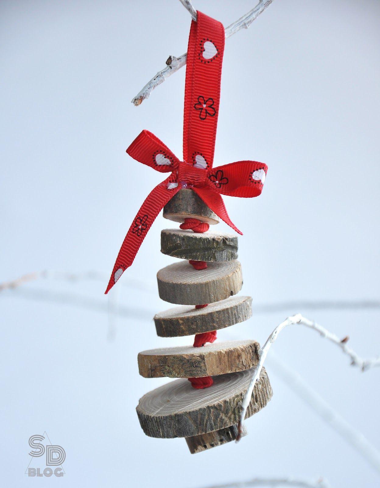 Wood Slice Christmas tree Ornaments