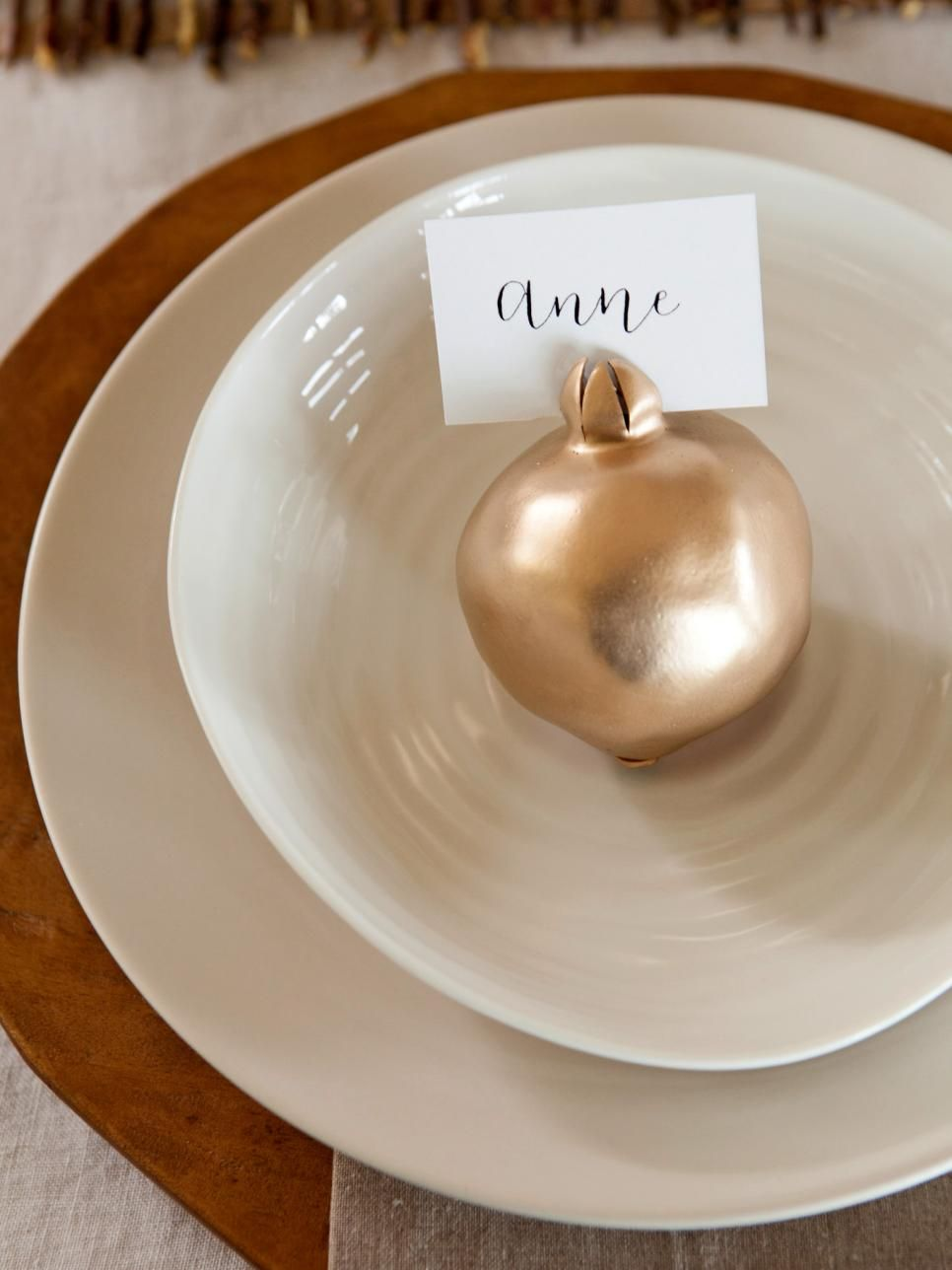 pomegranate place cards