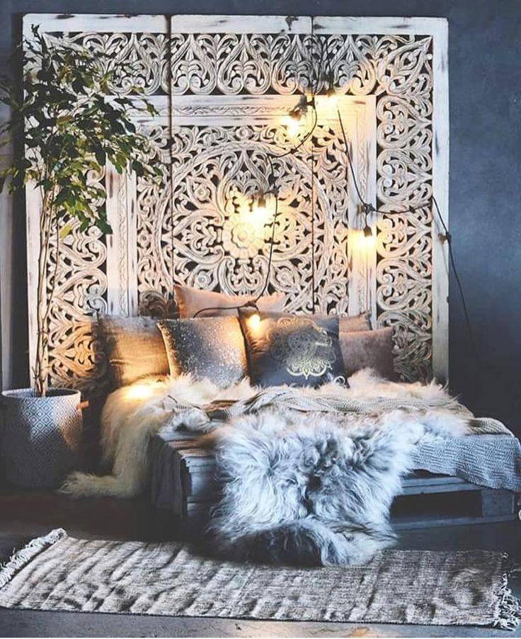 Boho bedroom furs