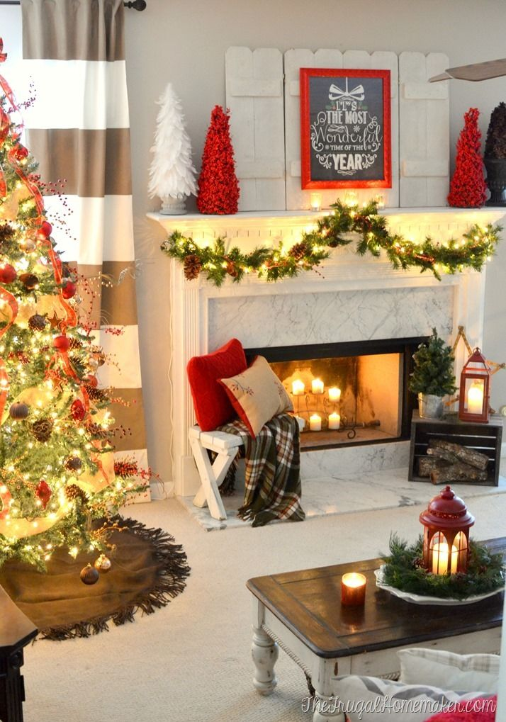 50 Christmas Mantles For Some Serious Decorating Inspiration Mini mantel trees
