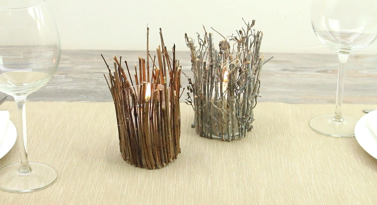 Make A Rustic Twig Candle Holder Home Decorating Trends