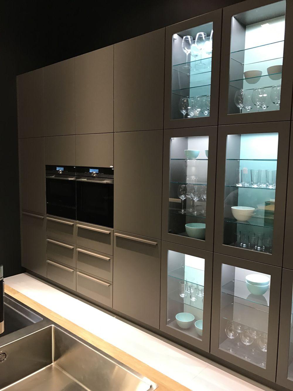 Modern Glass Door Kitchen Cabinet Novocom Top