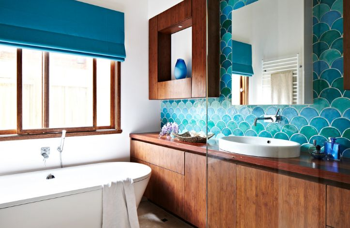 fish scale tiles an unusual choice for