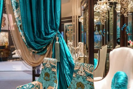 Details Make the Difference in Baroque  Rococo Style Furniture Opulent silk  typical of Rococo interiors  is paired with more modern  pieces in a current twist on the era