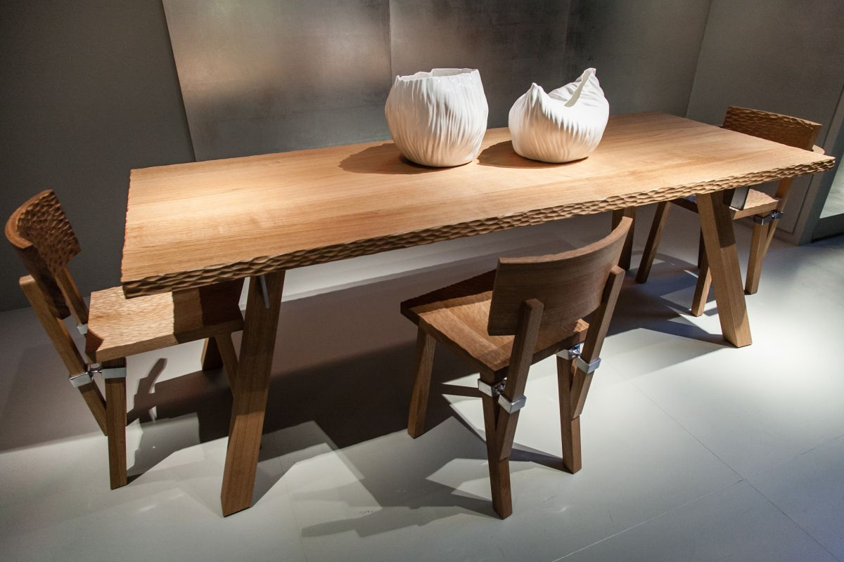 wood dining chairs with an elegant grip