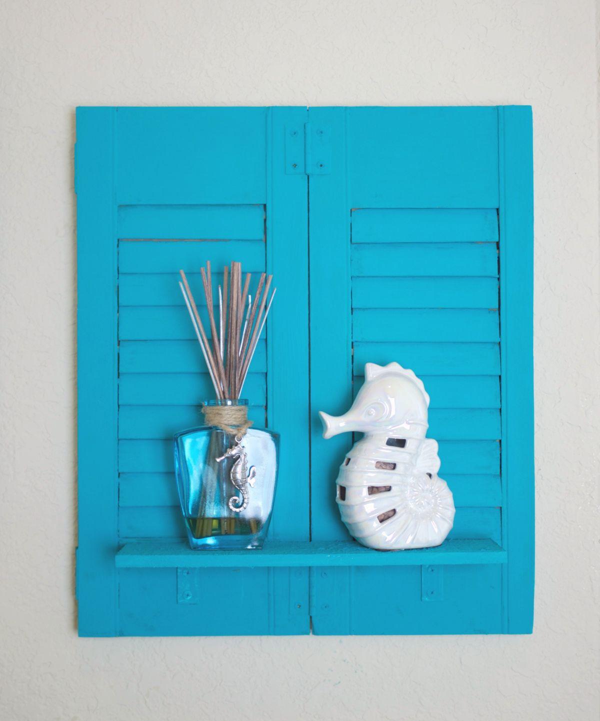 Make A Shelf By Using Repurposed Wood Shutters Obsigen