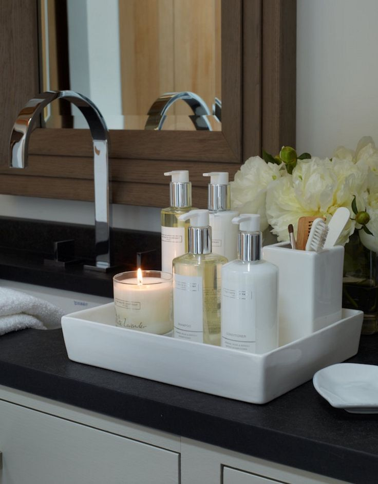 Bathroom Countertop Storage Solutions With Aesthetic Charm on Countertop Decor  id=25298