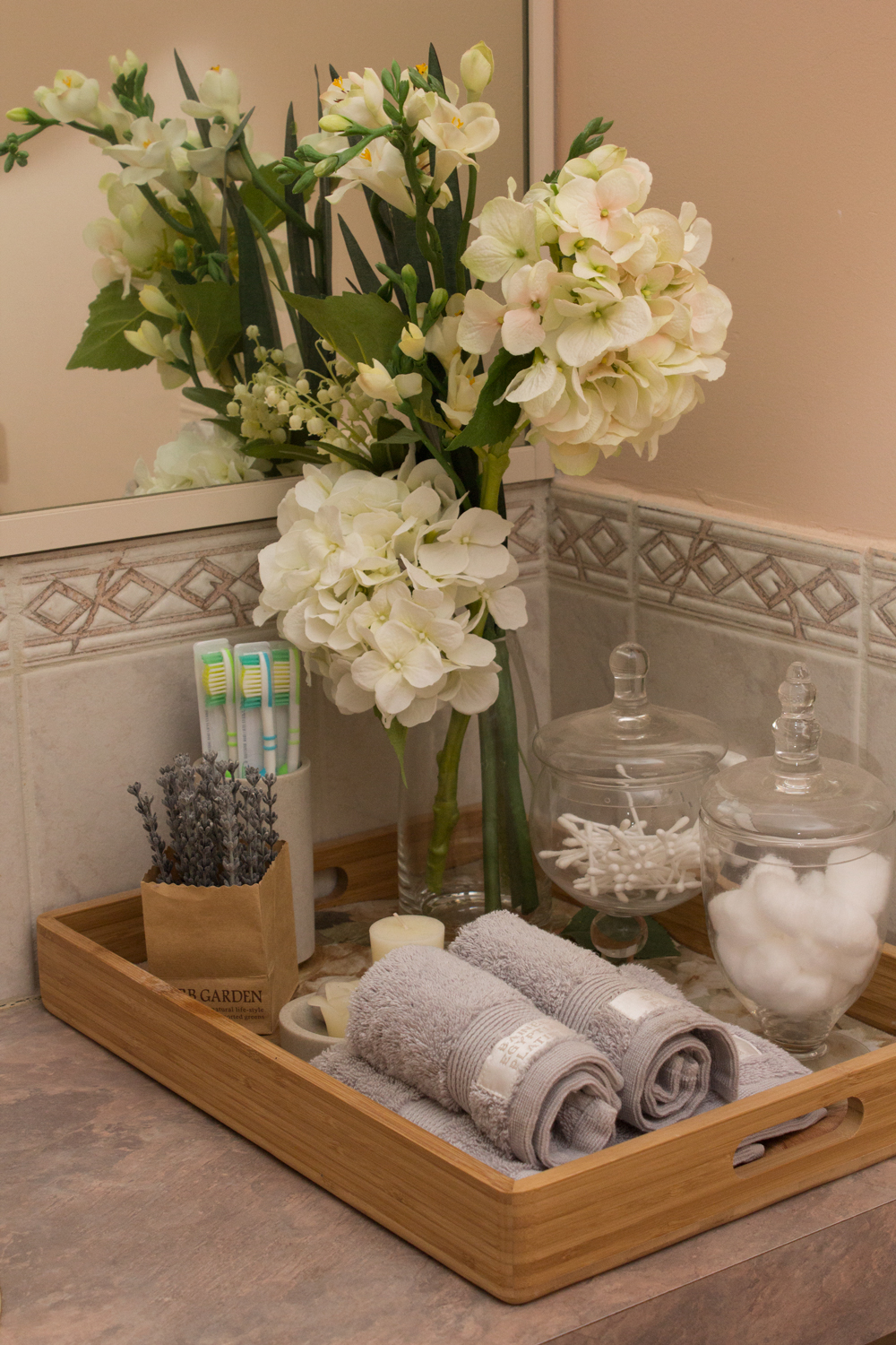 Bathroom Countertop Storage Solutions With Aesthetic Charm on Countertop Decor  id=80822