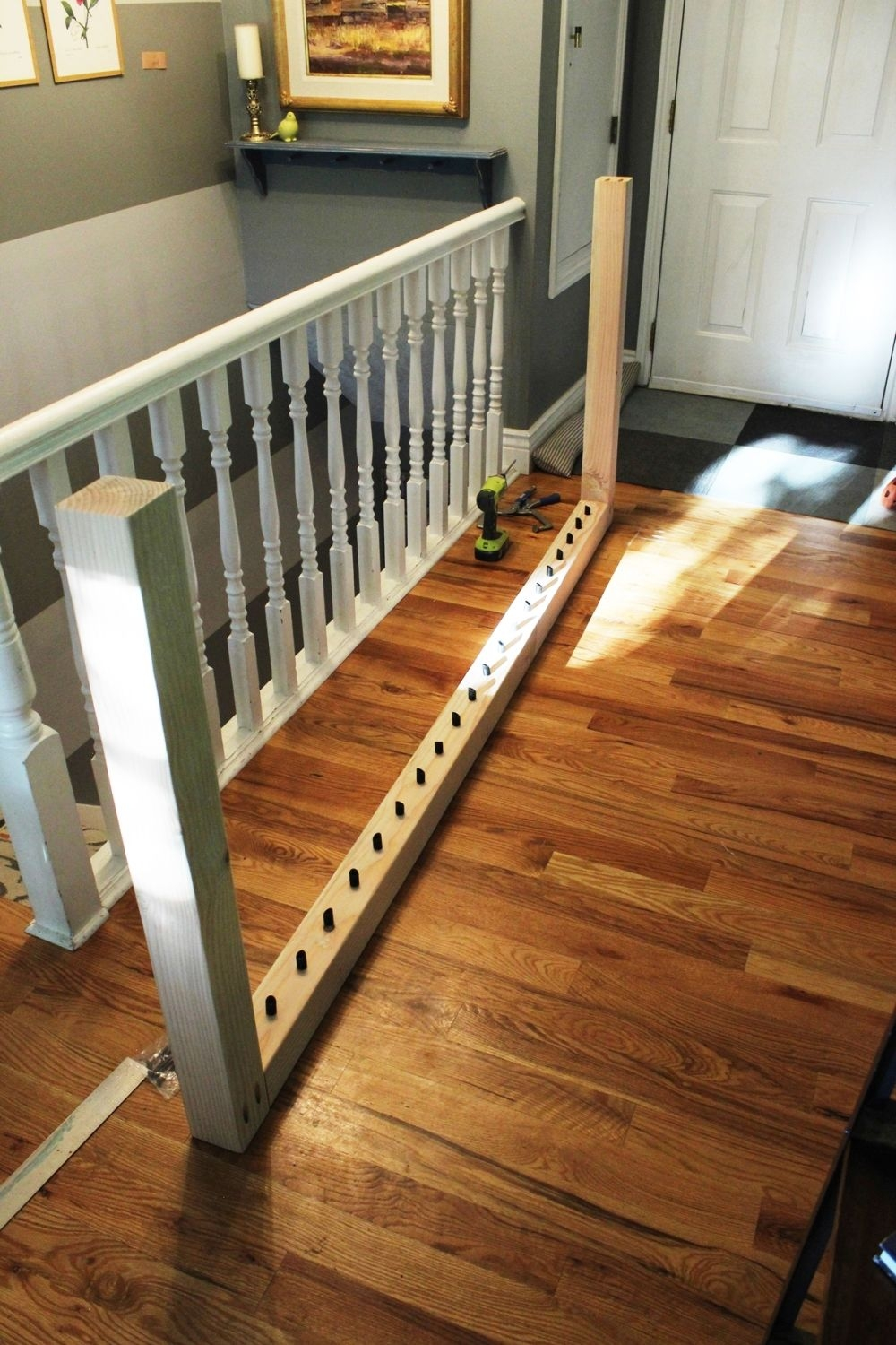 Diy Stair Handrail With Industrial Pipes And Wood | Building A Stair Rail | Craftsman Style | White | Horizontal | Glass | Inexpensive