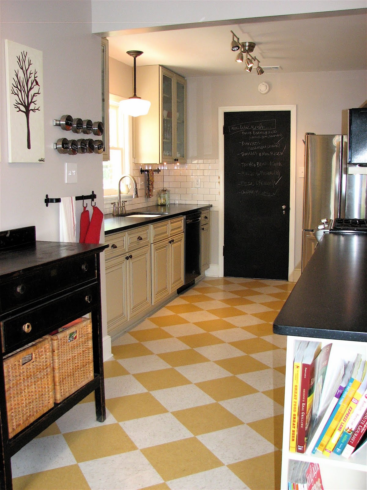 Floor Design And Wall Kitchen Tiles