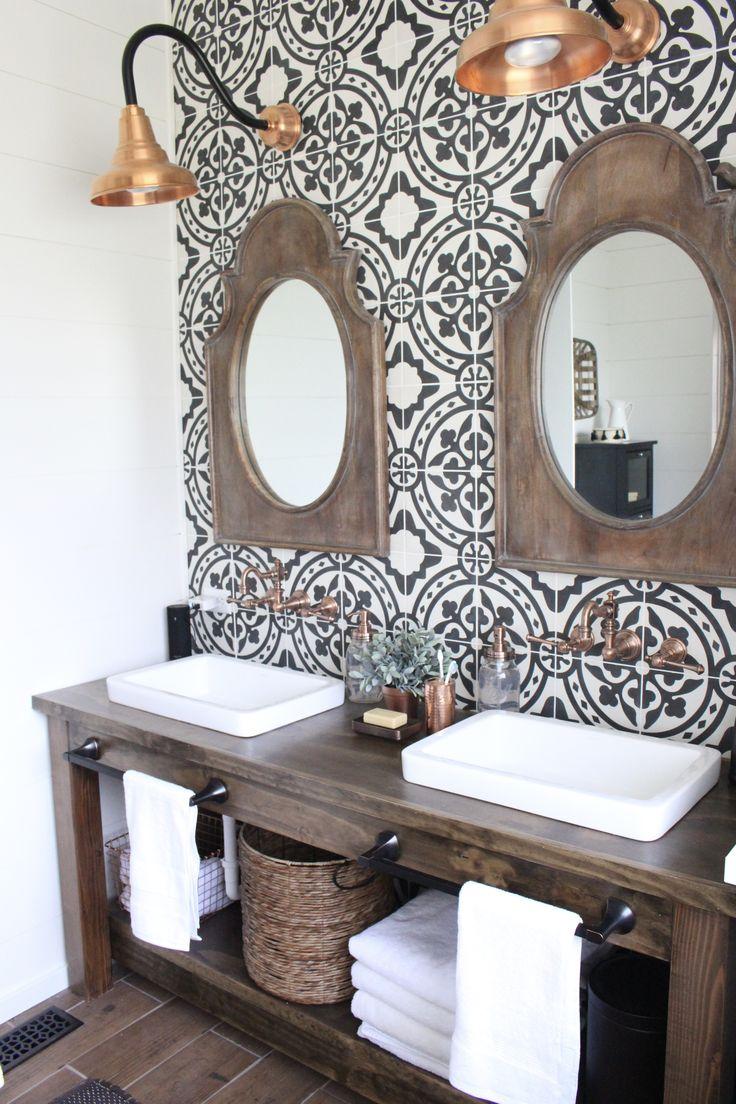 40 Pieces Of Farmhouse Decor To Use All Around The House on Modern Farmhouse Bathroom Ideas  id=73908