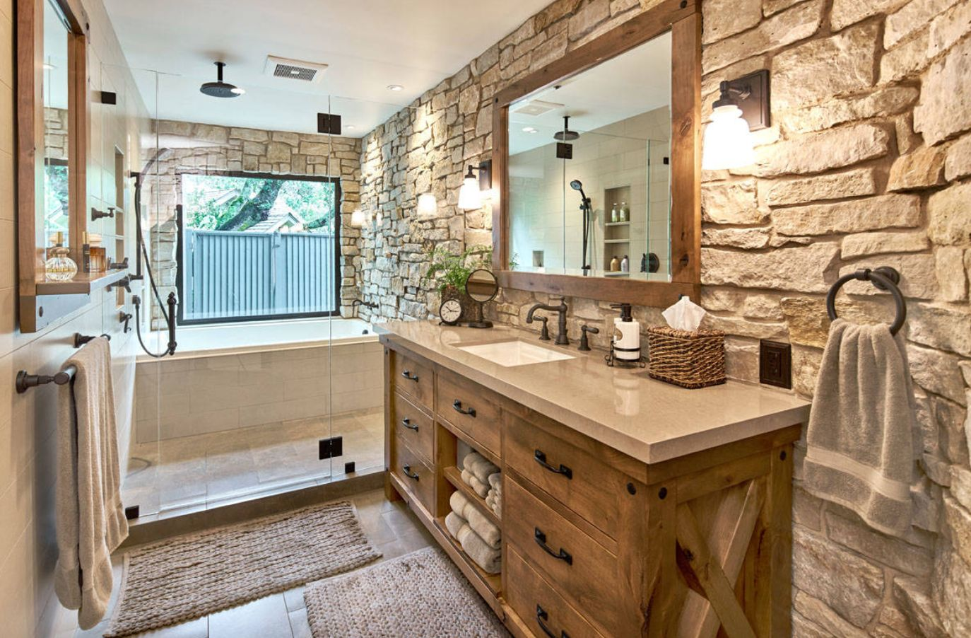 Rustic Bathroom Ideas Inspired By Nature's Beauty on Restroom Ideas  id=81296