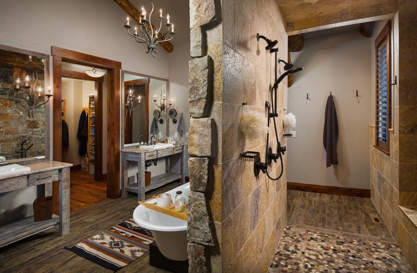 rustic bathroom ideas inspired by nature s beauty on rustic bathroom designs photos id=85761