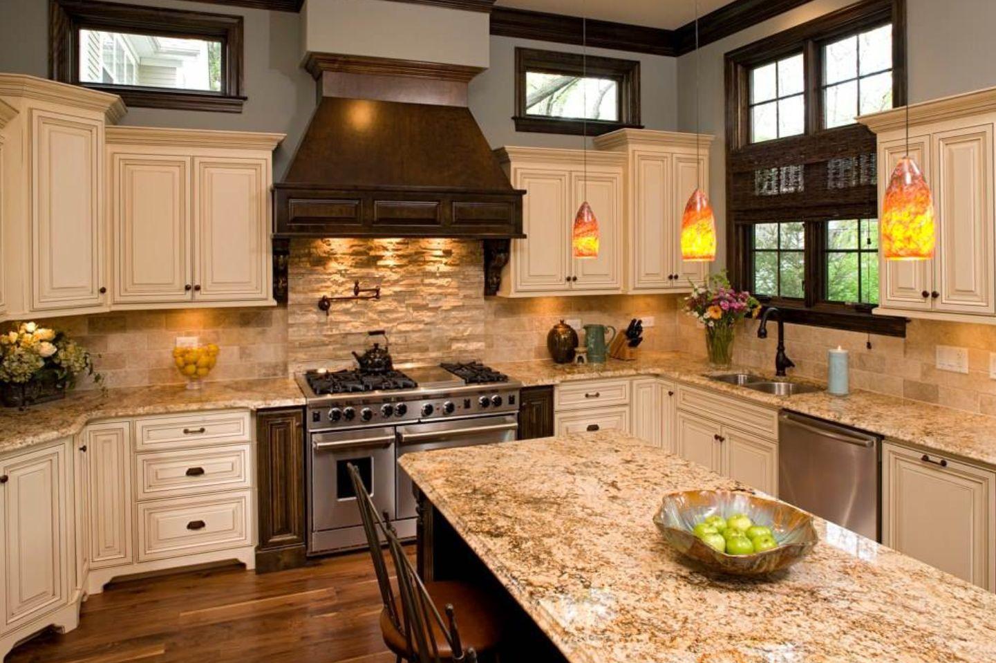 Travertine Backsplash Ideas For Nostalgic Kitchen Designs on Best Backsplash For Granite Countertops  id=31263