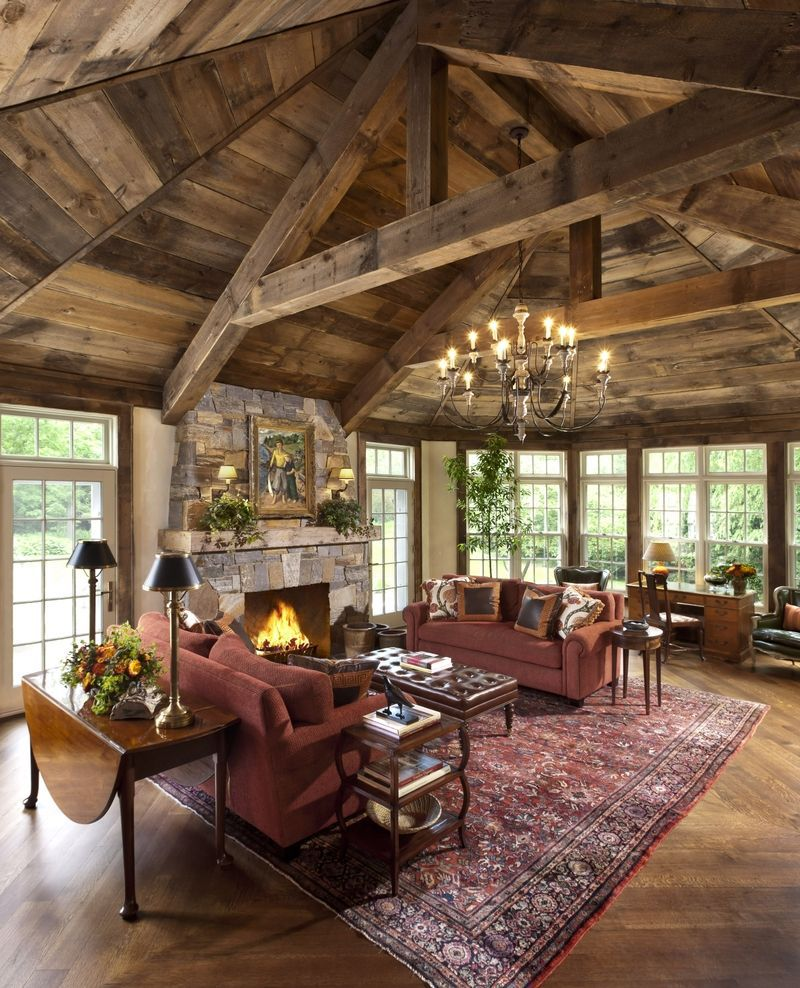 50 Rustic Living Room Ideas To Fashion Your Revamp Around on Rustic Traditional Decor  id=13840