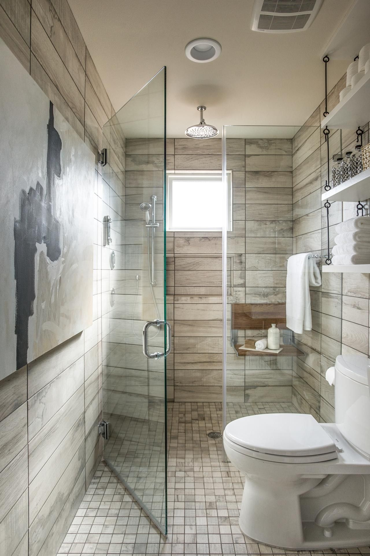 25 wood tile showers for your bathroom