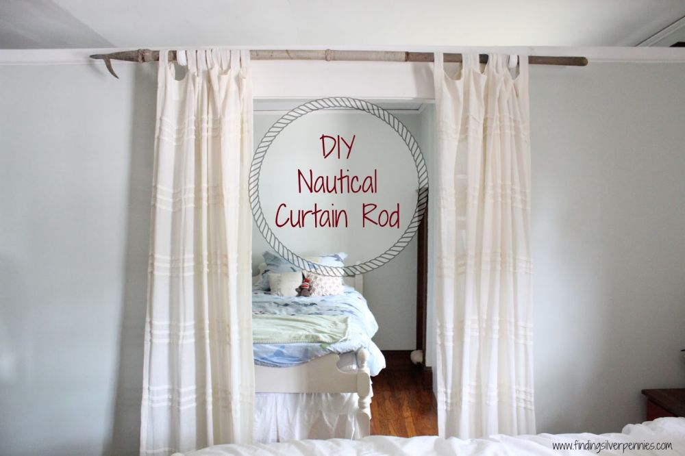 diy curtain rods easy fun cheap and