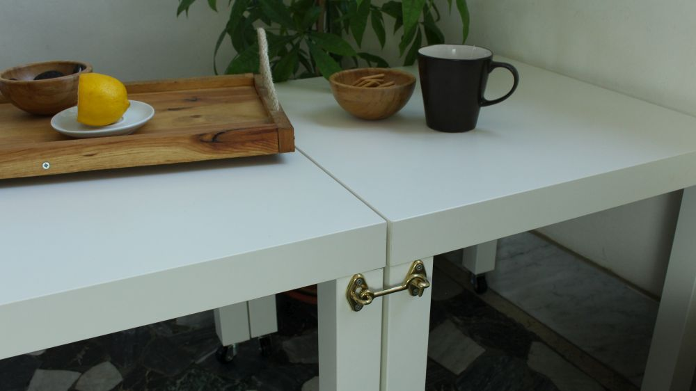 Quick And Easy Rolling Double IKEA Lack Table
