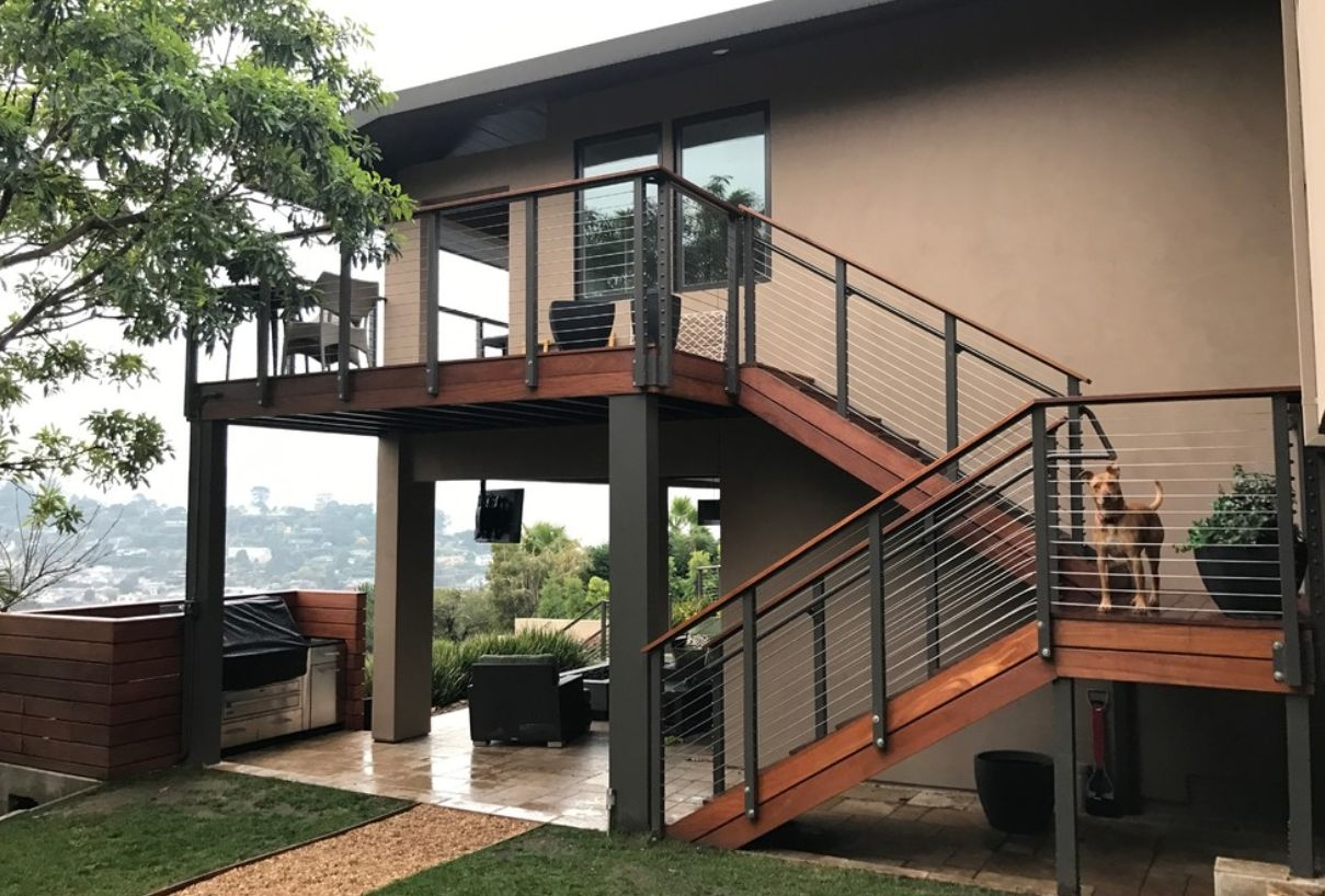 Modern Outdoor Stair Railing Designs And Ideas That Actually Make | Outdoor Stair Railings Near Me | Porch Railings | Front Porch | Composite | Metal Stair | Stair Treads