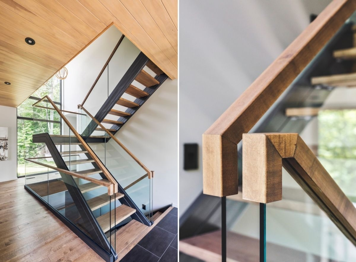 10 Stair Handrail Ideas With Glamorous Designs | Wooden Handrails For Stairs Interior | Design | Brown | Simple | Wall Mounted | Indoor