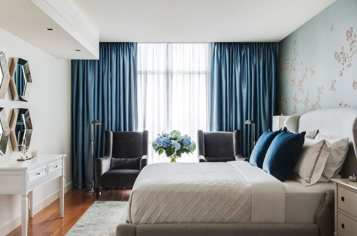 Make your Windows the Star of the Room With These Bedroom ... on Bedroom Curtain Ideas  id=77090