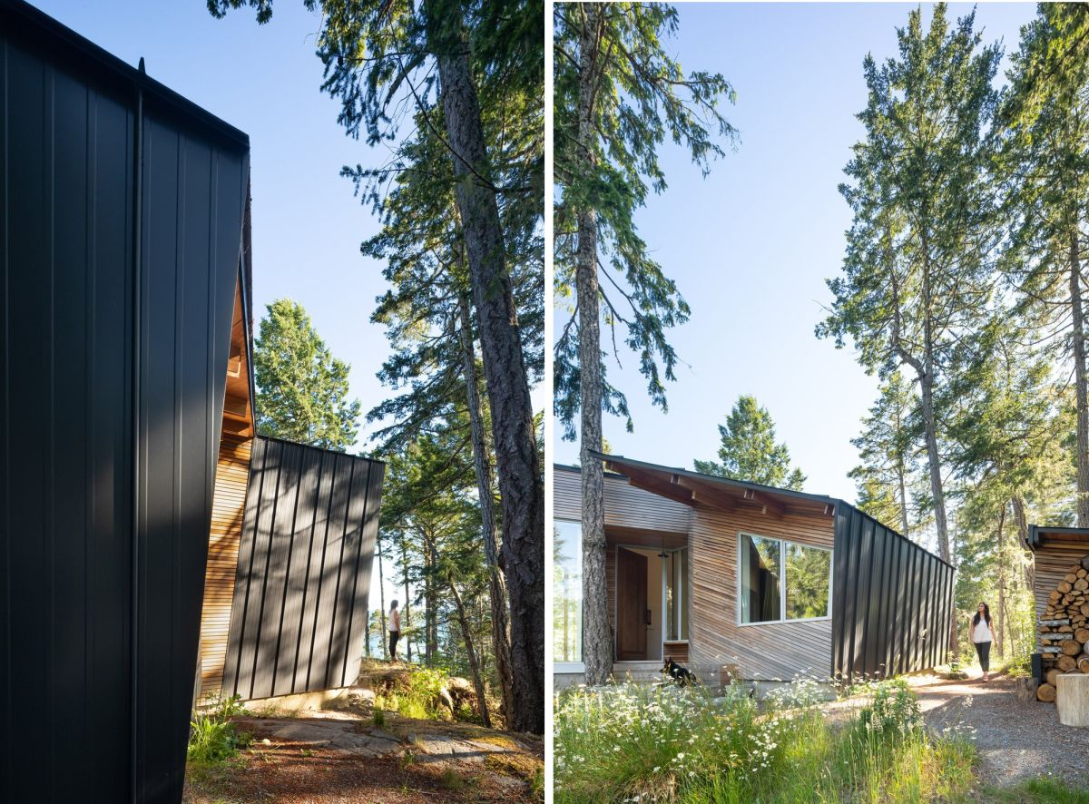 The house is surrounded by dense forests and also gets to enjoy a view of the sea