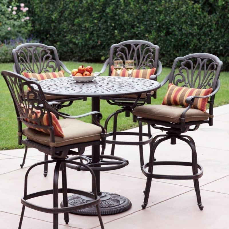 outdoor high top table and chairs