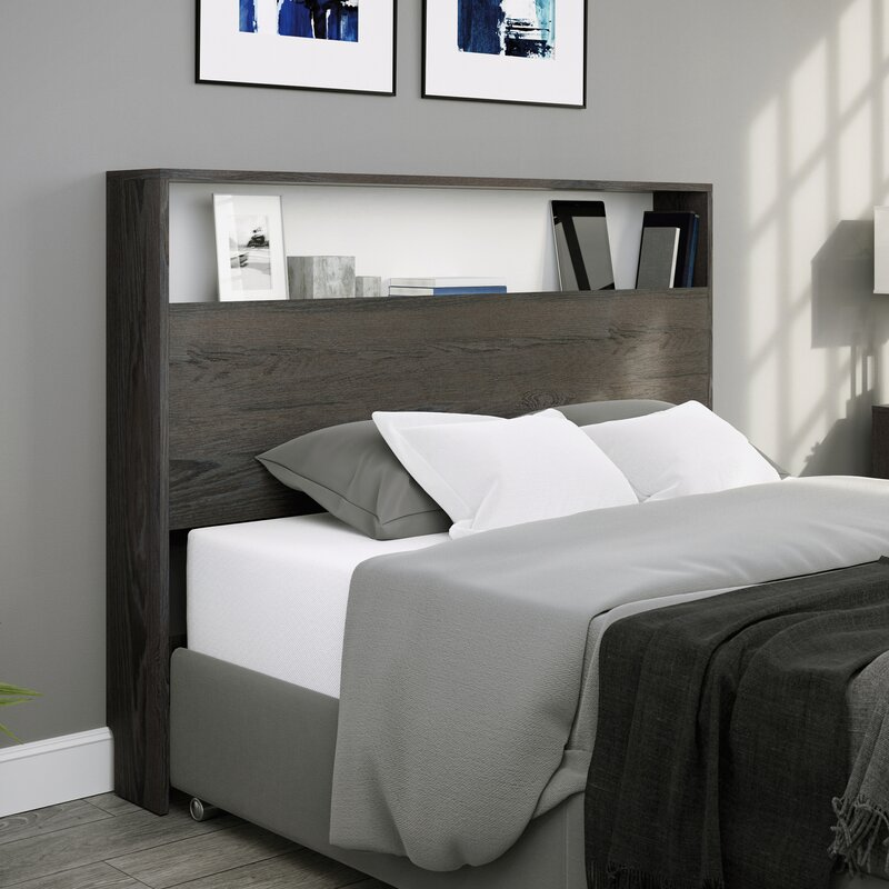 bookcase designs that double as headboards