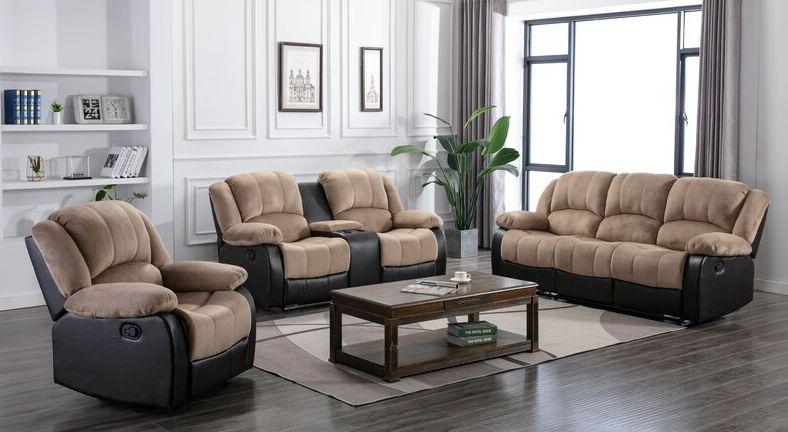 decor with a comfortable recliner sofa set