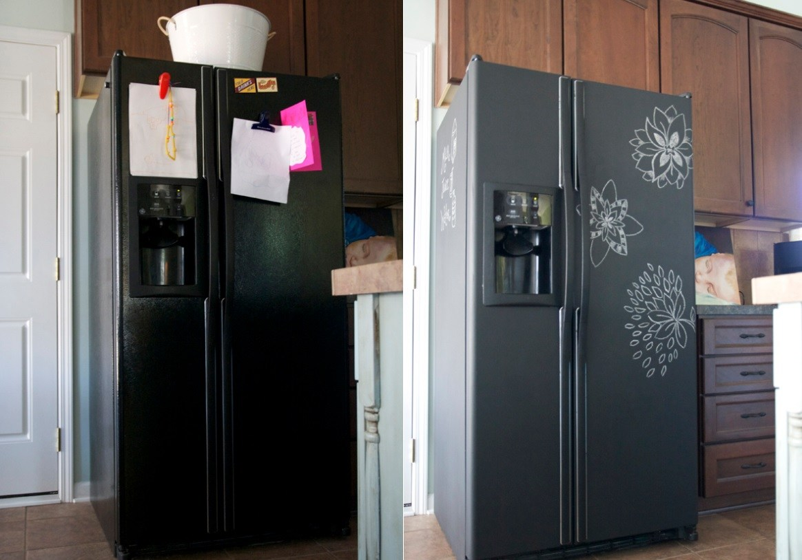 how to paint your refrigerator and