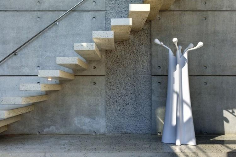 Modern Concrete Stairs Design Outdoor | Floating Concrete Steps Designs | Exterior | Landscape | House | Sidewalk | Cement