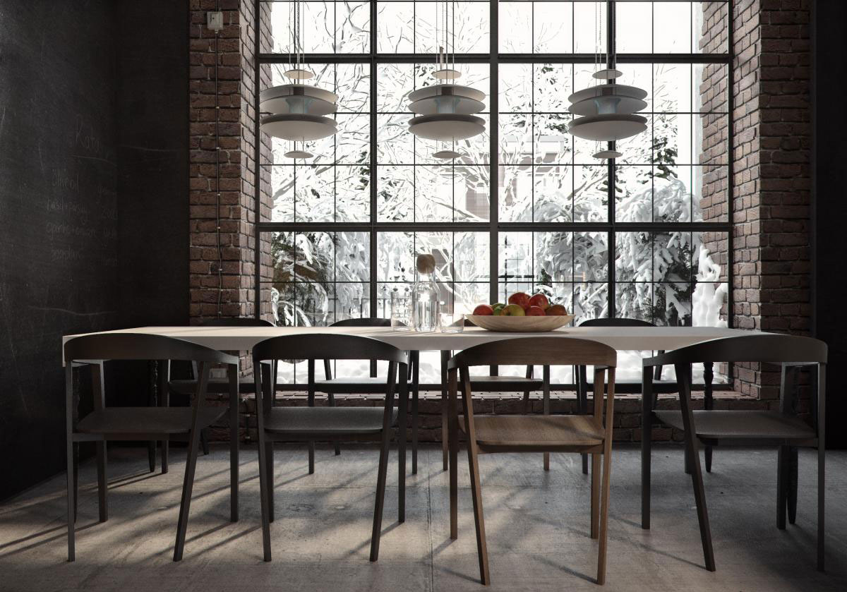 Ruslan Kovalchuk Designs An Industrial Style Apartment In Kiev