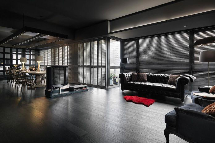 33 Kinds of Joys of Life darken theme flat 02 Taipei Base Design Center Designs an Apartment in Taipei City for a Young Couple