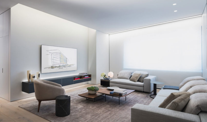 First apartment in Tadao 02 850x504 Peaceful and Elegant Apartment Designed by 152 Elizabeth Located in New York, USA