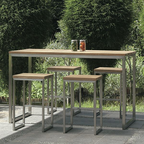 mamagreen oko teak outdoor bistro table