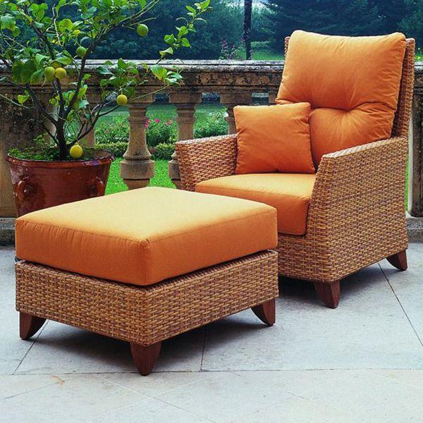 rausch outdoor wicker lounge chair