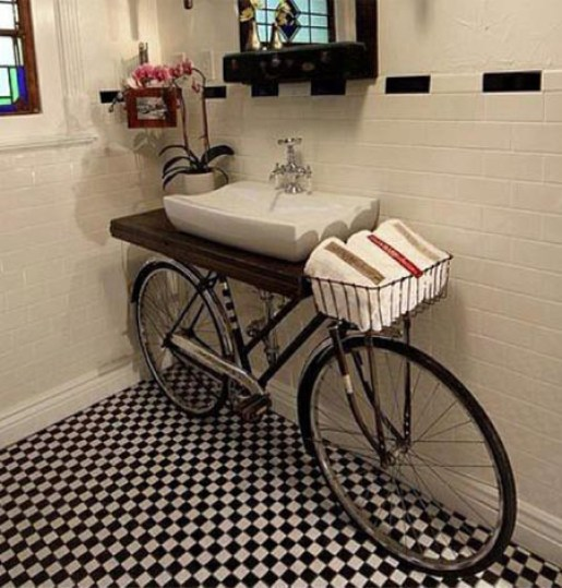 Unique Bicycle Bathroom Vanities