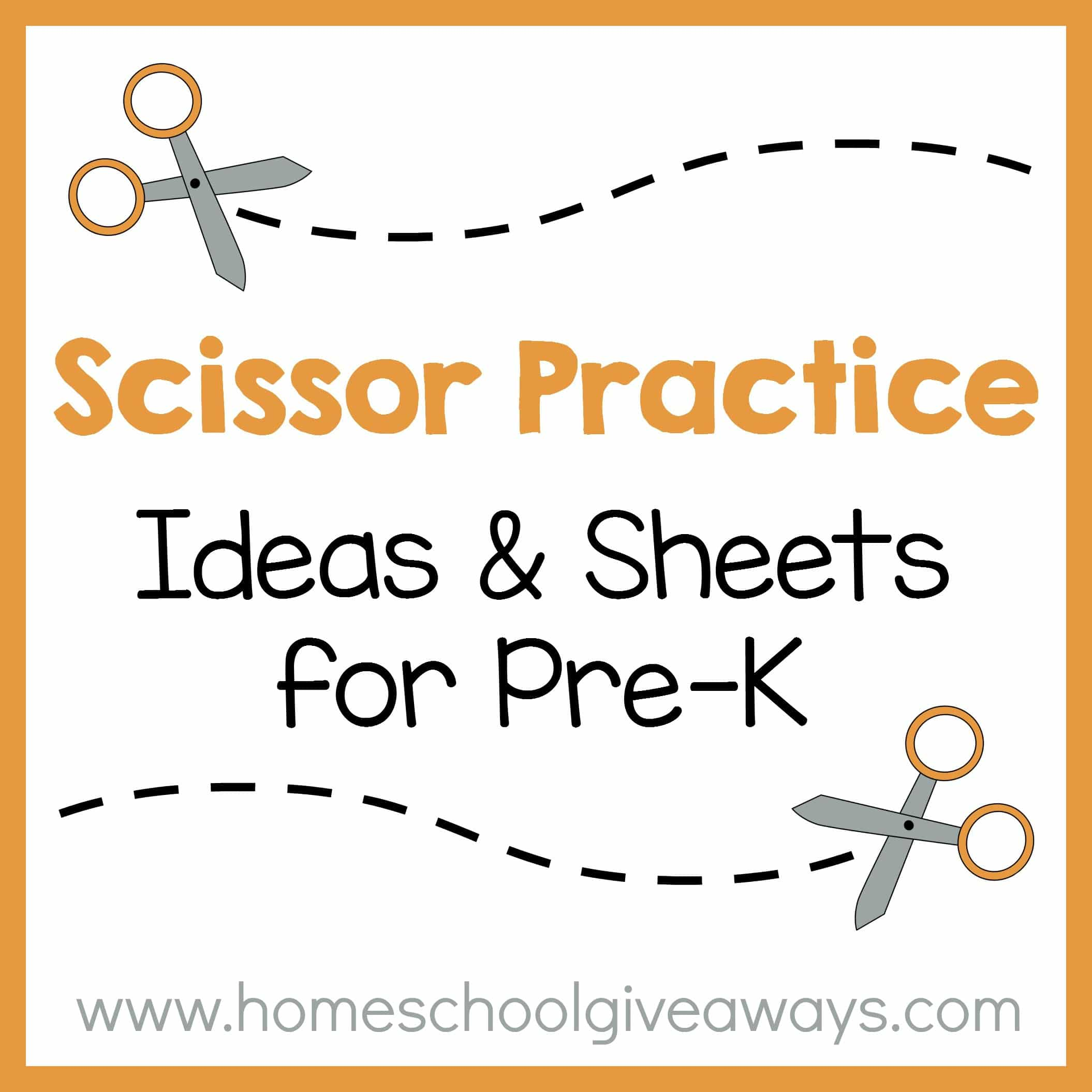 Scissor Practice Ideas And Sheets For Pre K