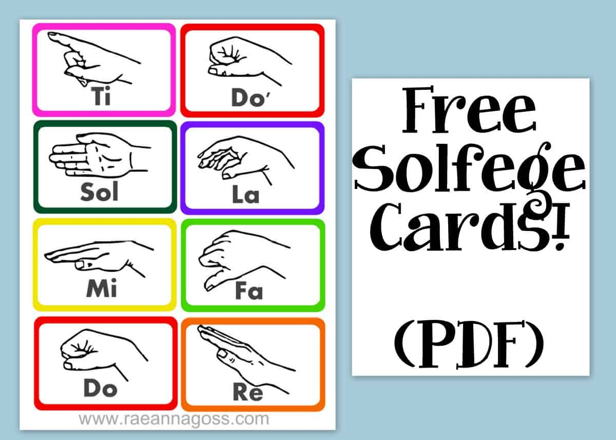 Free Printable Solfege Cards And Video