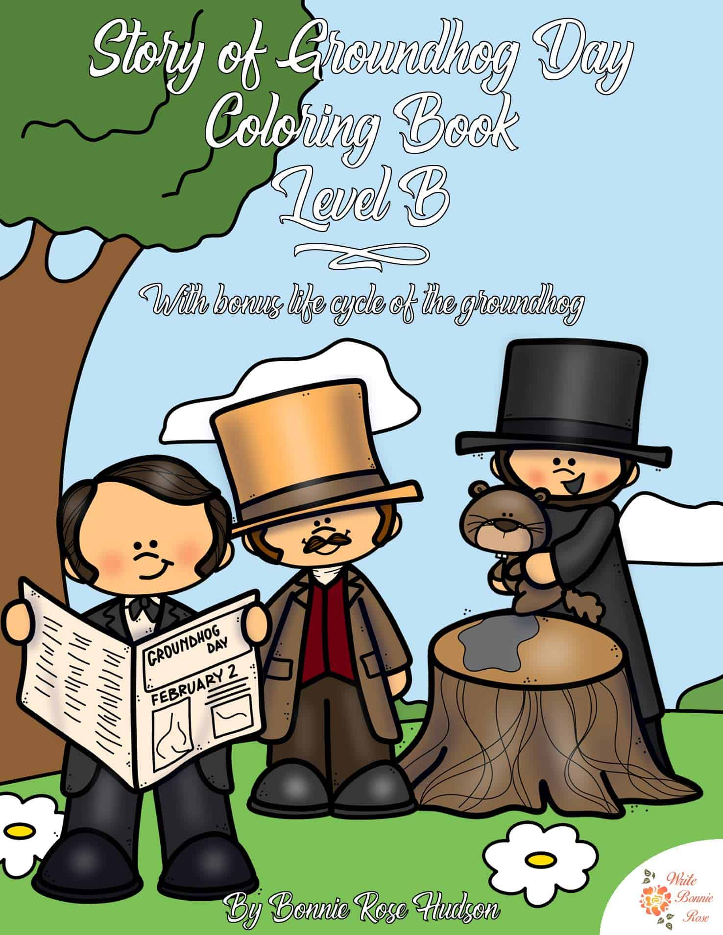 Free Story Of Groundhog Day Coloring Book