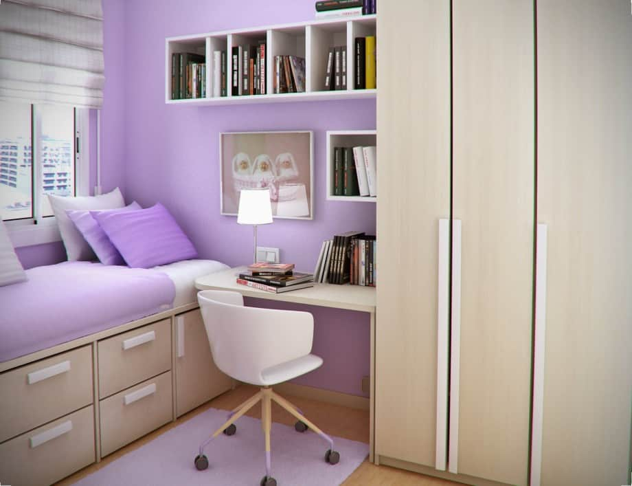 10 Tips on Small Bedroom Interior Design - Homesthetics ... on Girls Bedroom Ideas For Very Small Rooms  id=40602