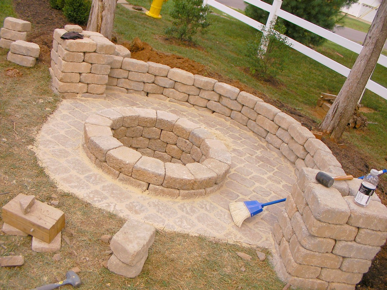 Creatively Luxurious DIY Fire Pit Project Here to Enhance ... on Backyard Fire Pit Ideas Diy id=43551