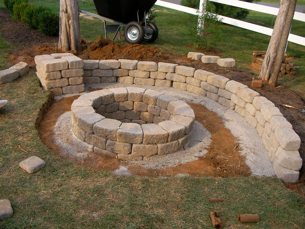 Creatively Luxurious DIY Fire Pit Project Here to Enhance ... on Diy Outdoor Fire  id=17155