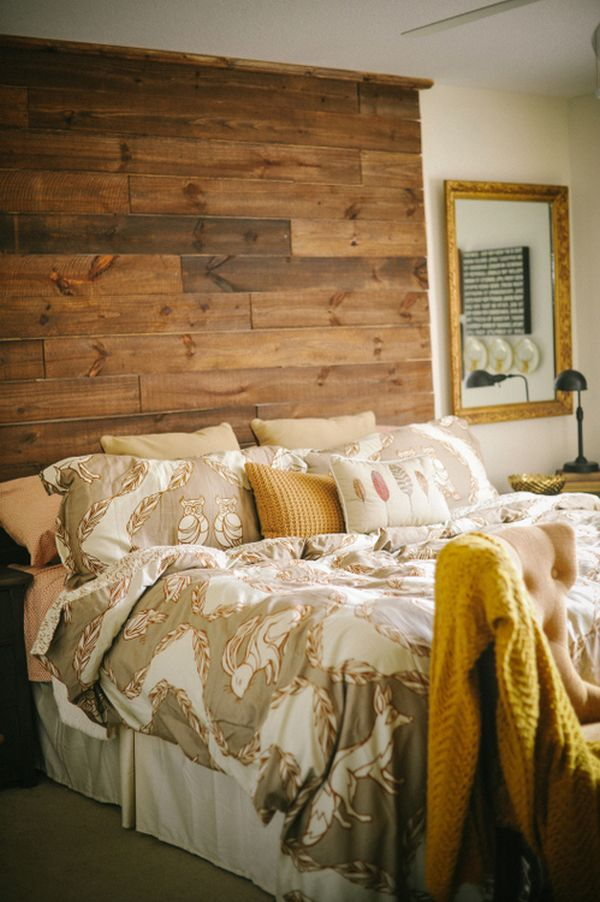 100 Inexpensive and Insanely Smart DIY Headboard Ideas for Your     DIY RECLAIMED WOOD PALLET HEADBOARDS