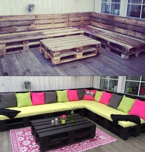 39 Insanely Smart and Creative DIY Outdoor Pallet ... on Pallet Design  id=80327