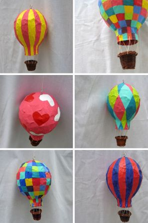 Top 30 Crafty Paper Mache Projects You Can Try For Yourself 22  Hot air balloons here